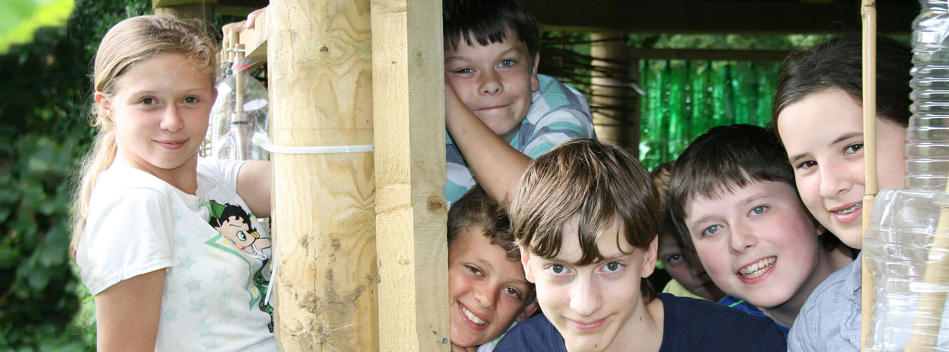 Rowdeford students outdoors